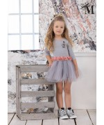 Gray ballerina dress